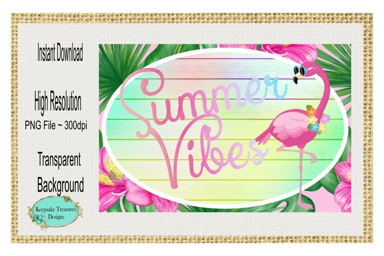 Summer Vibes, Door Hanger Template