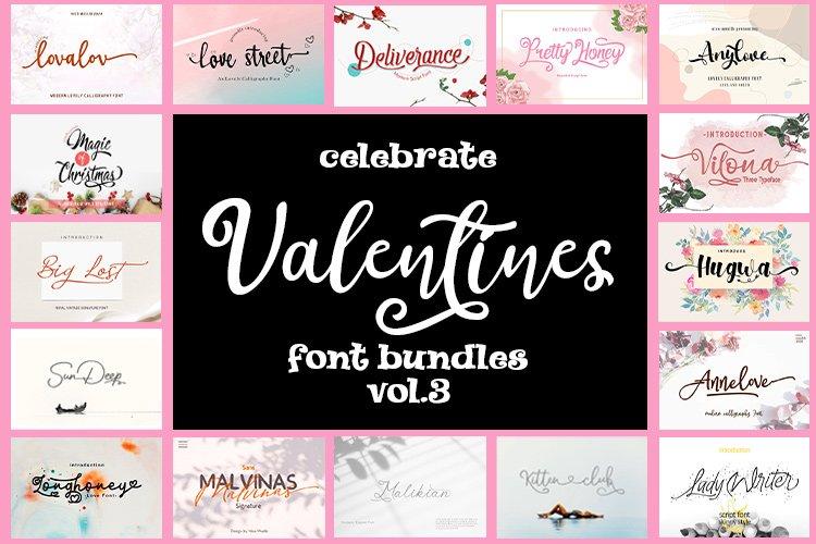 Celebrate Valentines Day Font Bundles