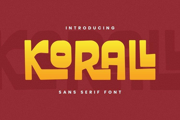 Web Font Korall Font example image 1
