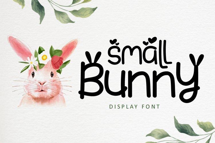 Small Bunny - Display Font For Easter Season example image 1