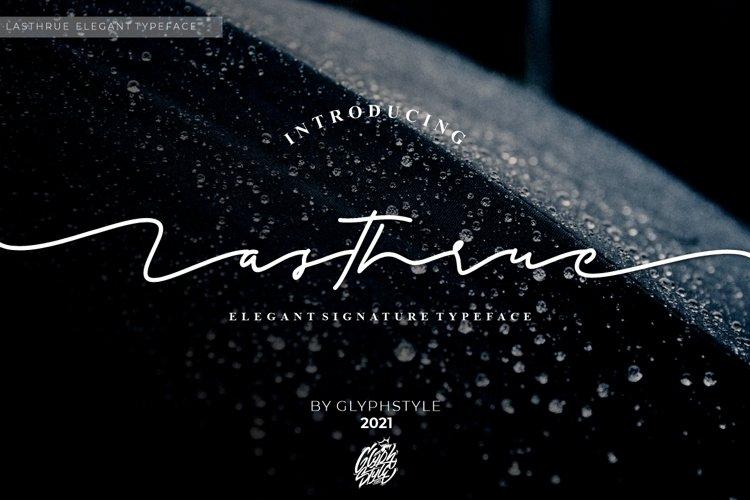 Lasthrue Elegant Signature example image 1