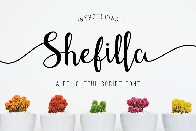 Shefilla Script Font example image 1