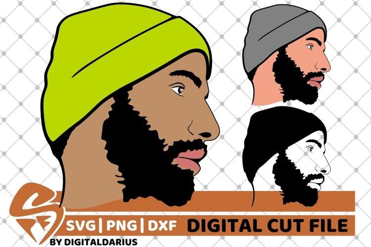 3x Beard Man svg, Hipster beard svg, Mustache svg, Layered example image 1