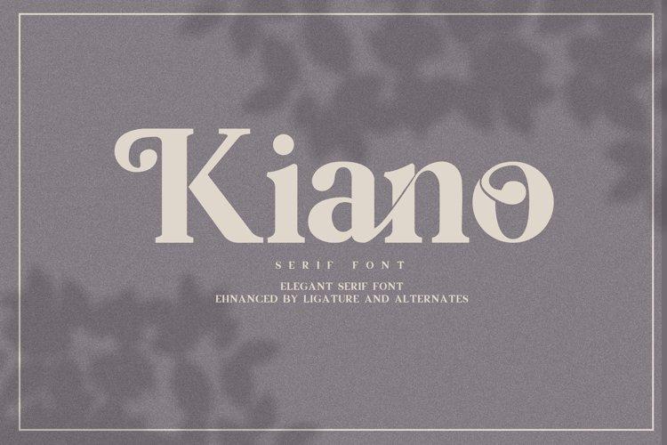 Kiano Serif Font example image 1