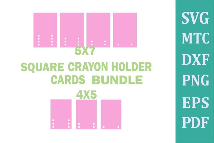 Crayon Holder SQUARE Blank DIY CARDS 1 to 6 Crayons