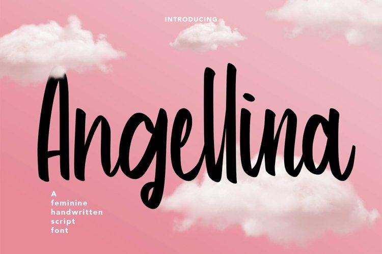 Web Font Angellina - Handwritten Script Font example image 1