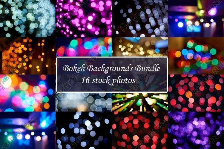 Bundle Bokeh backgrounds 16 stock photos