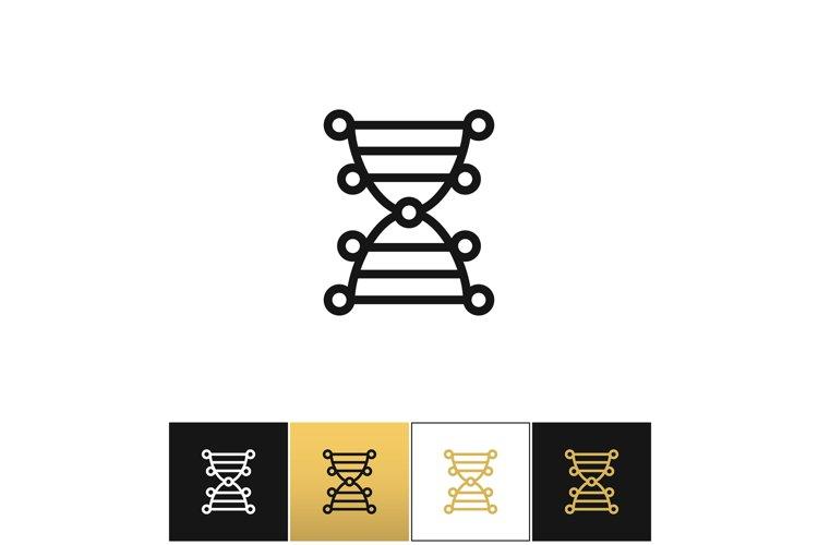DNA genetics chromosome code vector icon example image 1