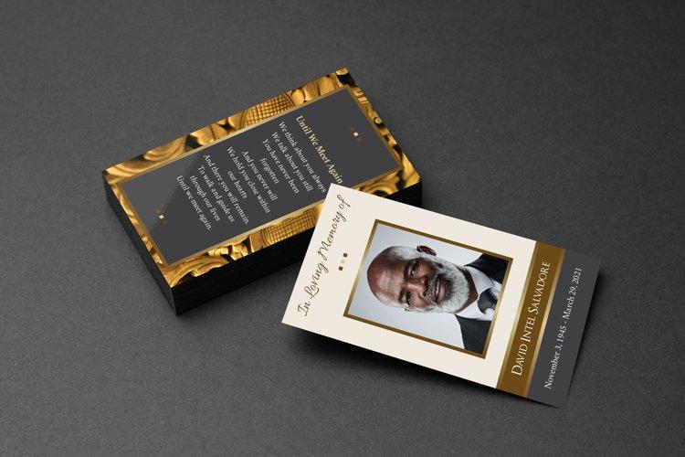 Golden Life Funeral Prayer Card