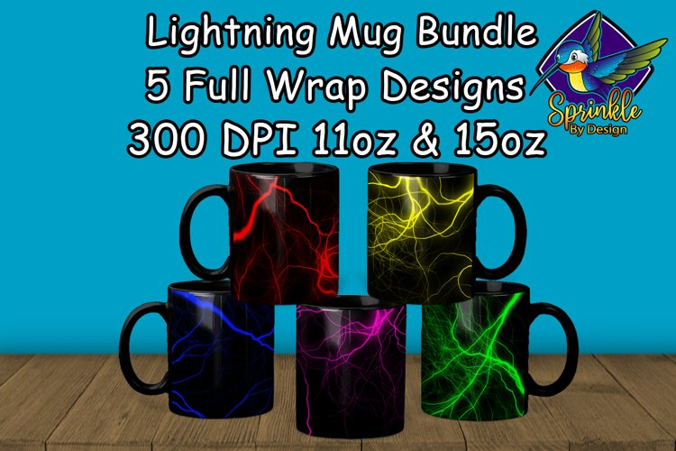 Lightning Mug Sublimation Bundle - Sublimation Mug Designs