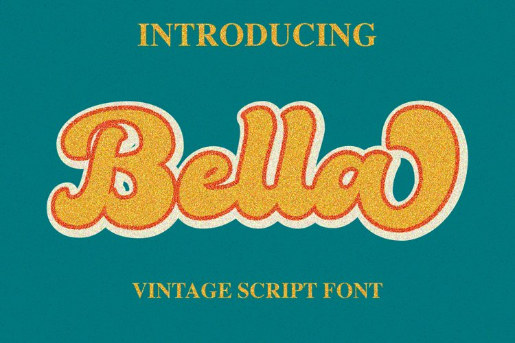 Bella - Vintage Script Font example image 1