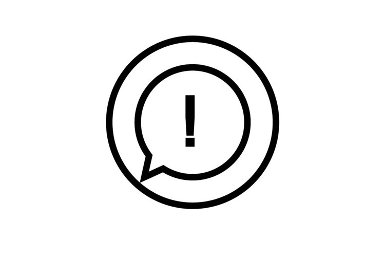 exclamation mark icon example image 1