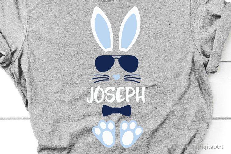 Easter Bunny Svg, Boys Easter Svg, Bunny Split Monogram Svg example image 1
