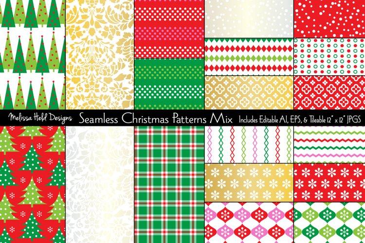 Seamless Christmas Patterns Match example image 1