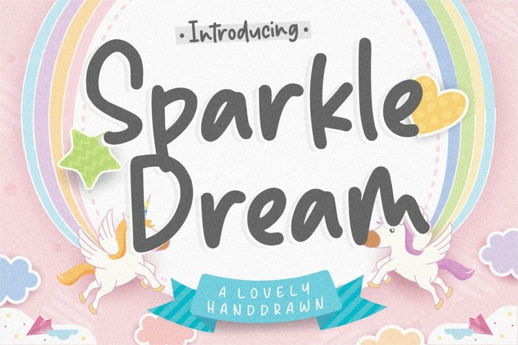 Sparkle Dream Lovely Handdrawn Font example image 1