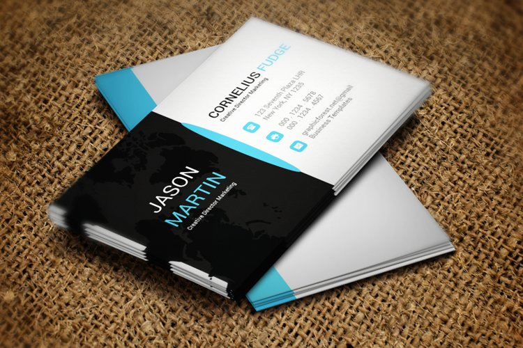 Black Business Card example image 1