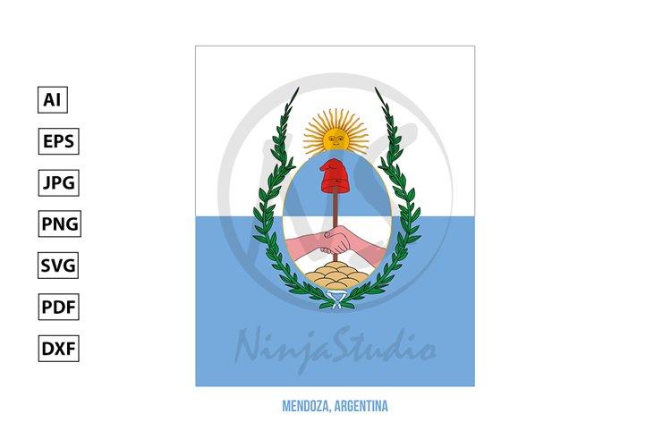 Mendoza Flag Vector. Flag of Argentina Provinces example image 1