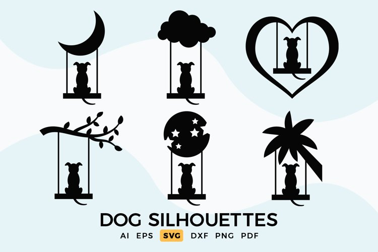 Dog SVG - Dog Silhouettes Clipart example image 1