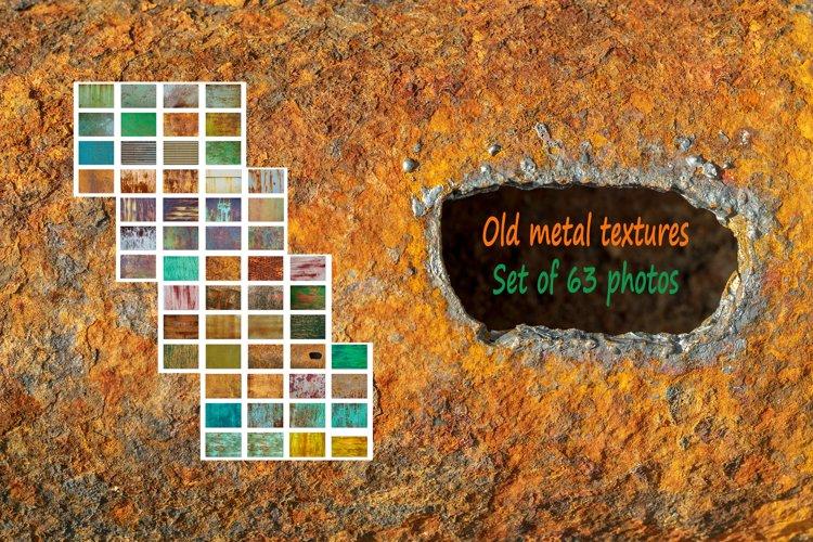 Old metal textures background