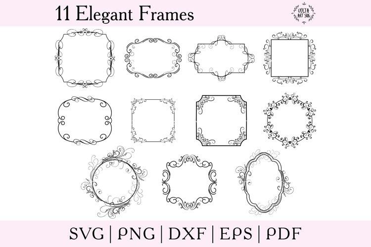 Download Elegant Frames Svg Bundle Svg Borders Set Geometric Frames 1158176 Objects Design Bundles