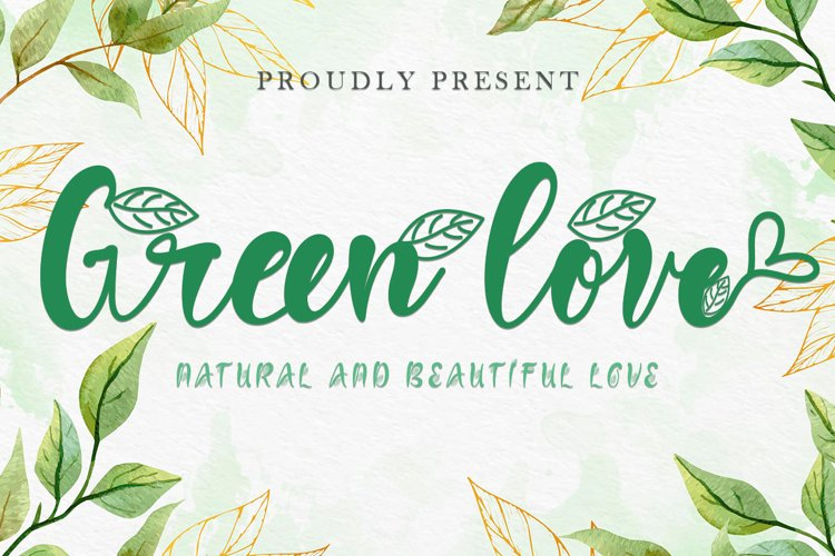Green Love example image 1