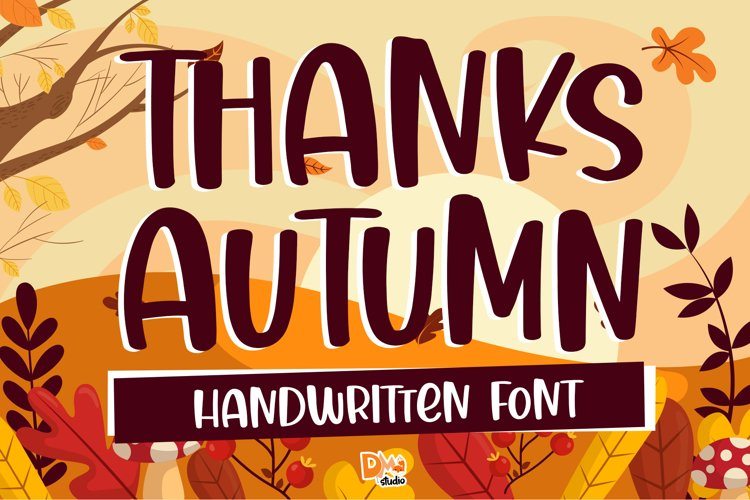 Thanks Autumn - Handwritten Font example image 1