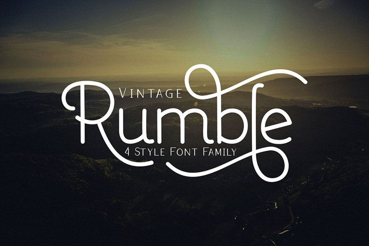 Rumble 4 Font Family