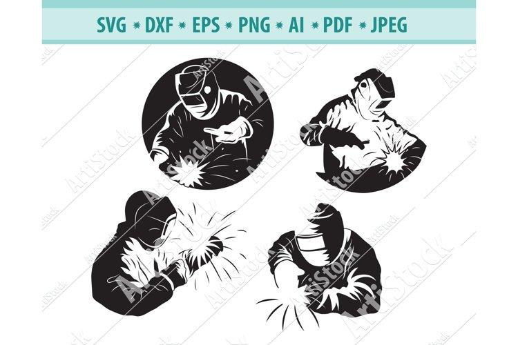 Welder SVG, Welding mask Svg, Electric welding Dxf, Eps, Png example image 1