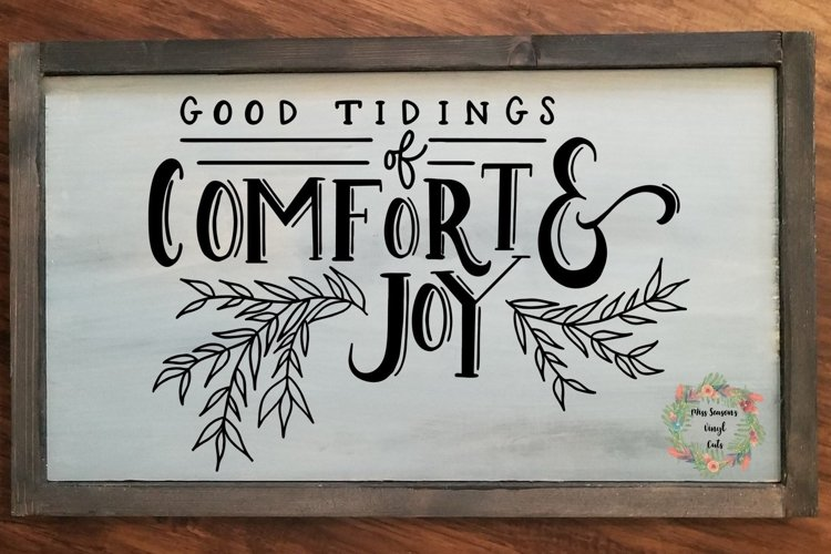 Good Tidings of Comfort and Joy Svg Dxf, Eps, Png example image 1