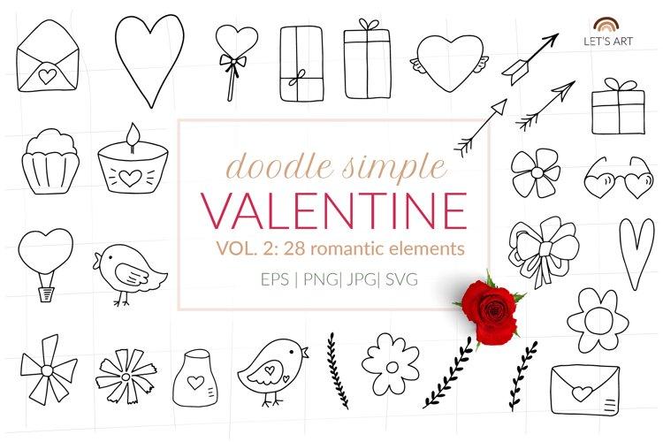 Doodle Valentines symbols svg hearts svg, arrows svg example image 1