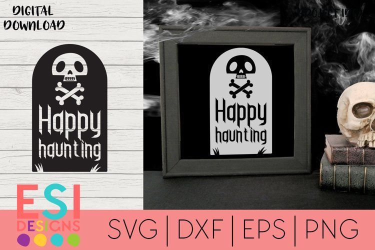 Halloween SVG | Happy Haunting| SVG cut files example image 1