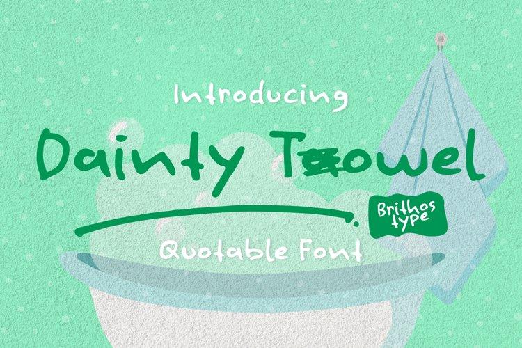 Dainty Towel example image 1