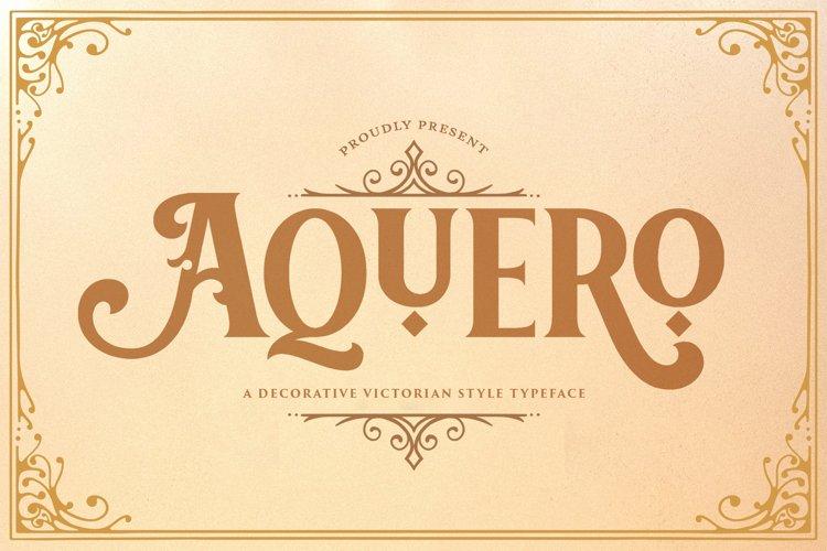 Aquero - Victorian Decorative Font example image 1