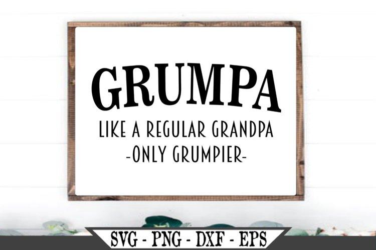 Grumpa Funny Grandpa SVG example image 1