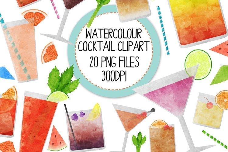 Watercolor Cocktails Clip Art Set 2