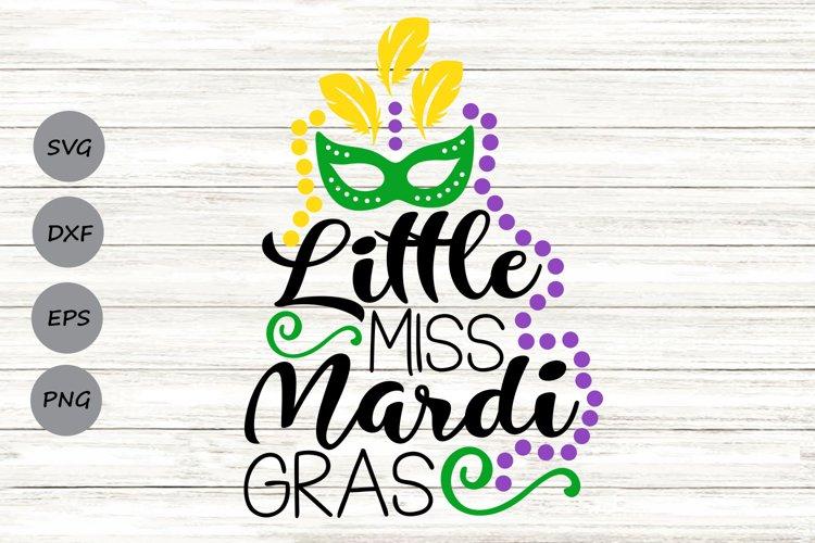Little Miss Mardi Gras Svg, Mardi Gras Svg, Fat Tuesday Svg. example image 1