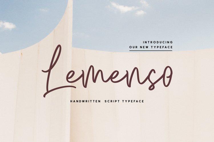 Lemenso - Handwritten Script Typeface example image 1