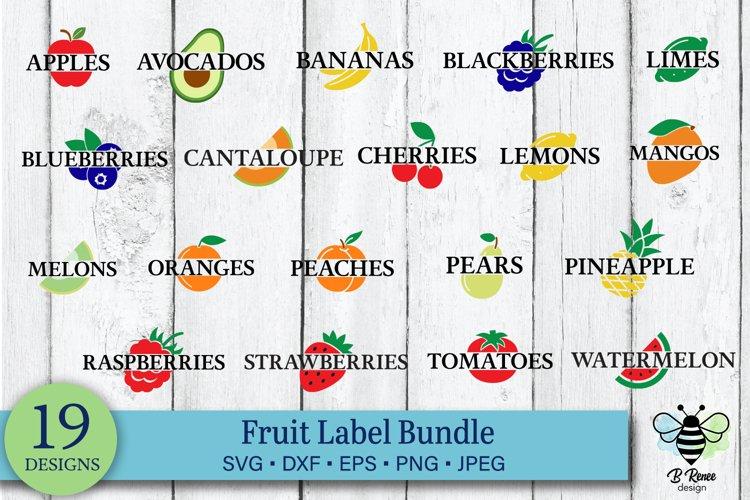 Fruit Label SVG Bundle   Garden Label SVG Bundle example image 1
