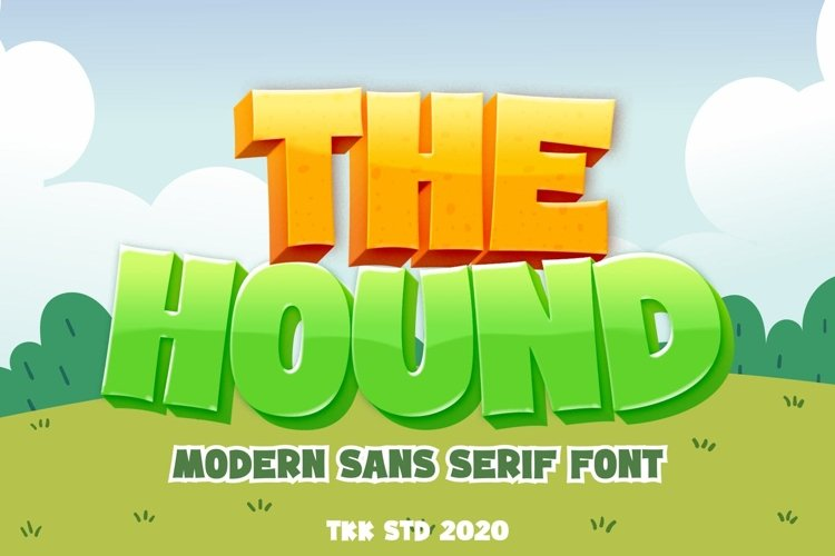 The Hound - Modern Cartoon Font example image 1