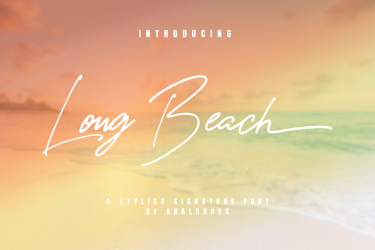 Long Beach | Stylish Signature example image 1
