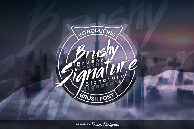 Brushy Signature - Hand Drawn Script Brush Font example image 1