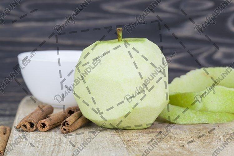 cut peeled green Apple example image 1