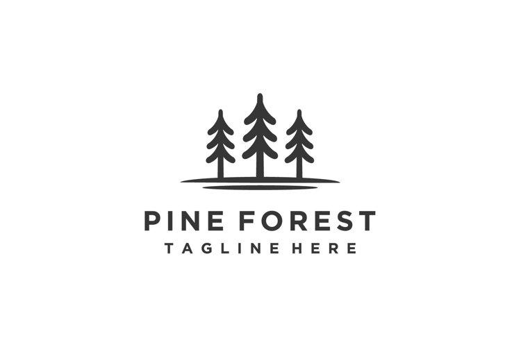 Pine, evergreen, fir, tree forest minimalist logo design example image 1