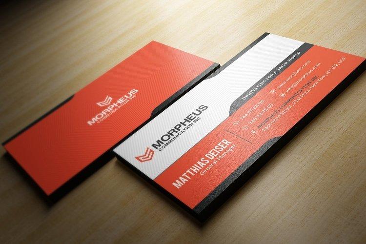 Orange Business Card example