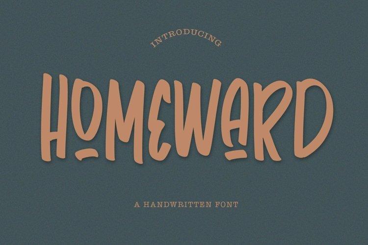 Web Font Homeward - Handwritten Font example image 1