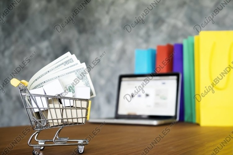 Online shopping concept. example image 1