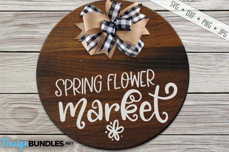 Spring Flower Market SVG | Gardening SVG |Spring SVG example image 1