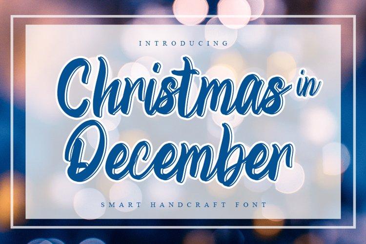 Christmas In December - Smart Handcraft Font example image 1