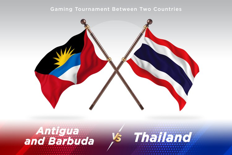 Antigua vs Thailand Two Flags example image 1