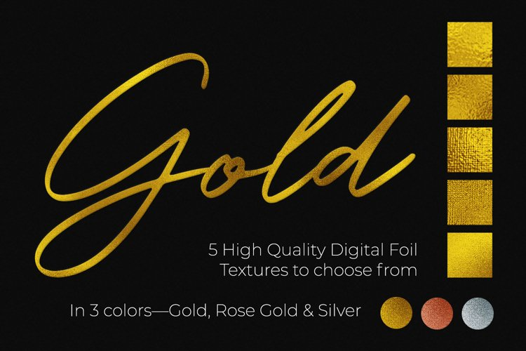 Hot Foil Stamp Effect Kit for Photoshop example 2